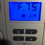 F.75 Vaillant ecoTEC Boiler Fault Code Error